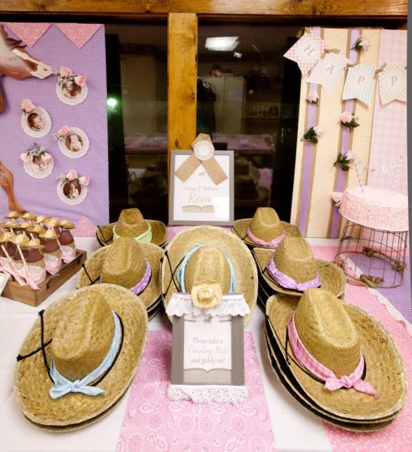 Kara's Party Ideas Girl Vintage Horse Cowboy Themed 5th Birthday Party Planning Ideas