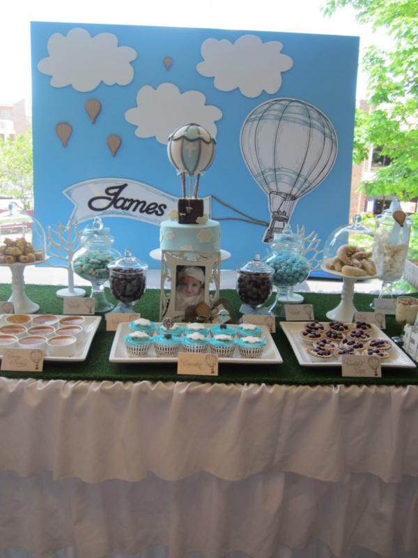 Kara S Party Ideas Hot Air Balloon Up Boy Christening