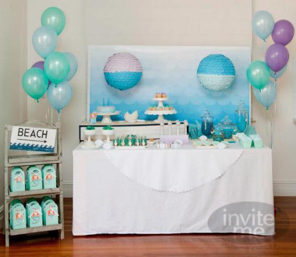 Kara's Party Ideas Mermaid Beach Ocean Girl Ariel 5th