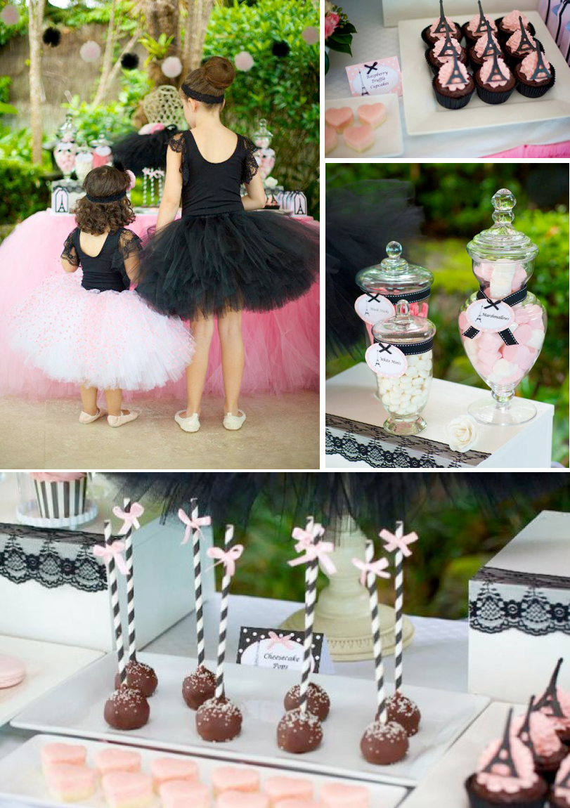 kara 39 s party ideas parisan chic ballerina ballet pink black girl party planning ideas. Black Bedroom Furniture Sets. Home Design Ideas