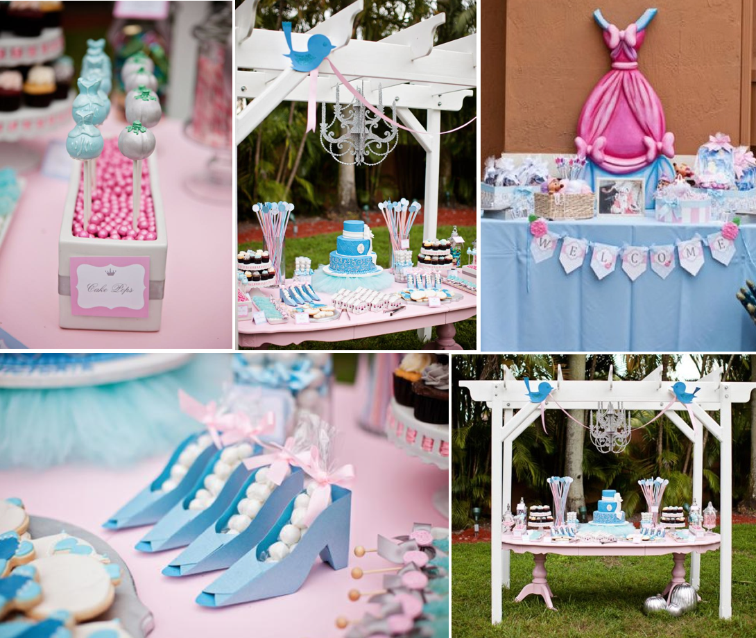 Kara 39 s party ideas princess cinderella themed 1st for Old school party decorations