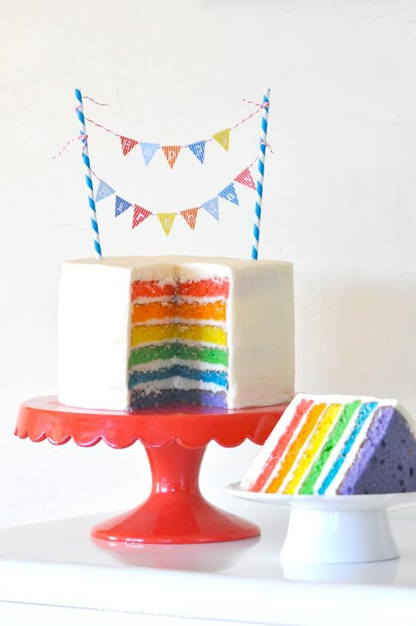 Karas Party Ideas Rainbow Themed Birthday