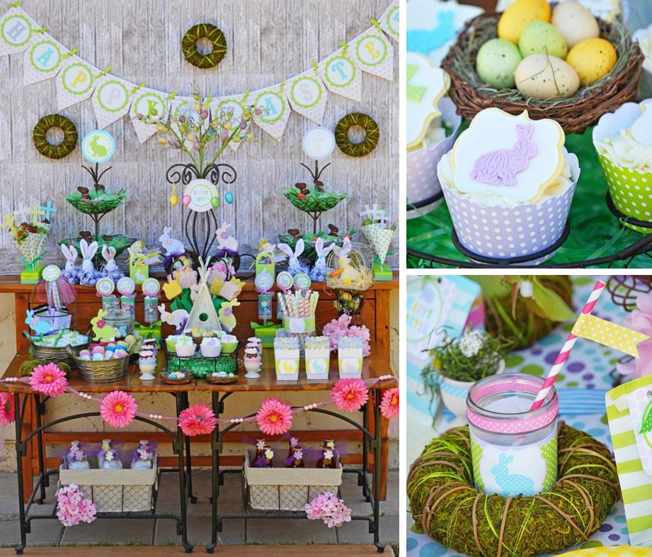 18 Spring Decor Ideas: Kara's Party Ideas Easter Dessert Buffet + Party! FREE