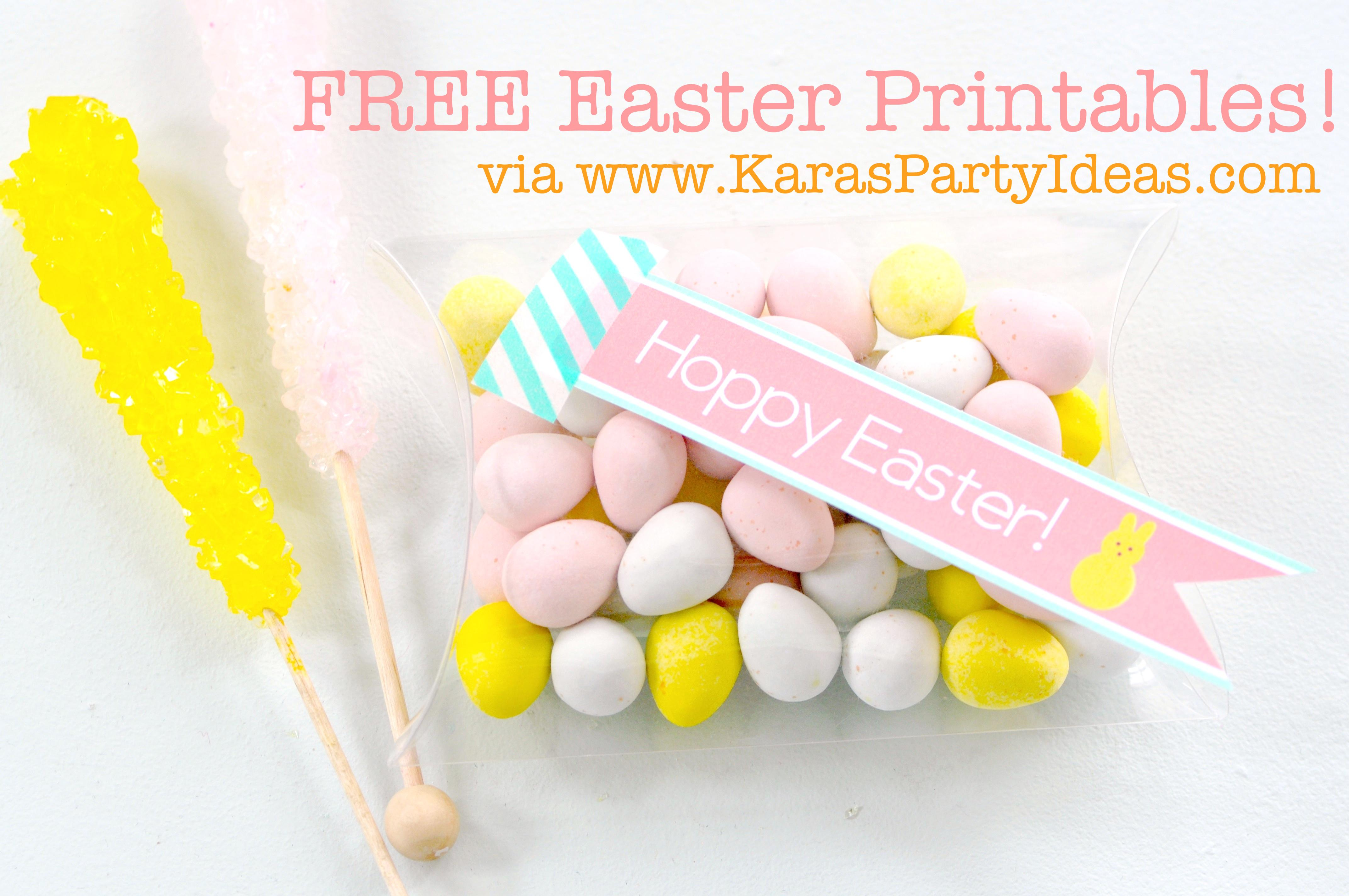FREE Easter Party Printable Tags + Cupcake Toppers via Kara's Party Ideas KarasPartyIdeas.com-10 (8)
