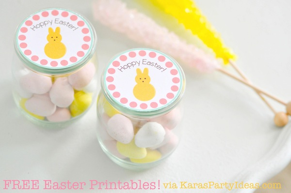 FREE Easter Party Printable Tags + Cupcake Toppers via Kara's Party Ideas KarasPartyIdeas.com-2
