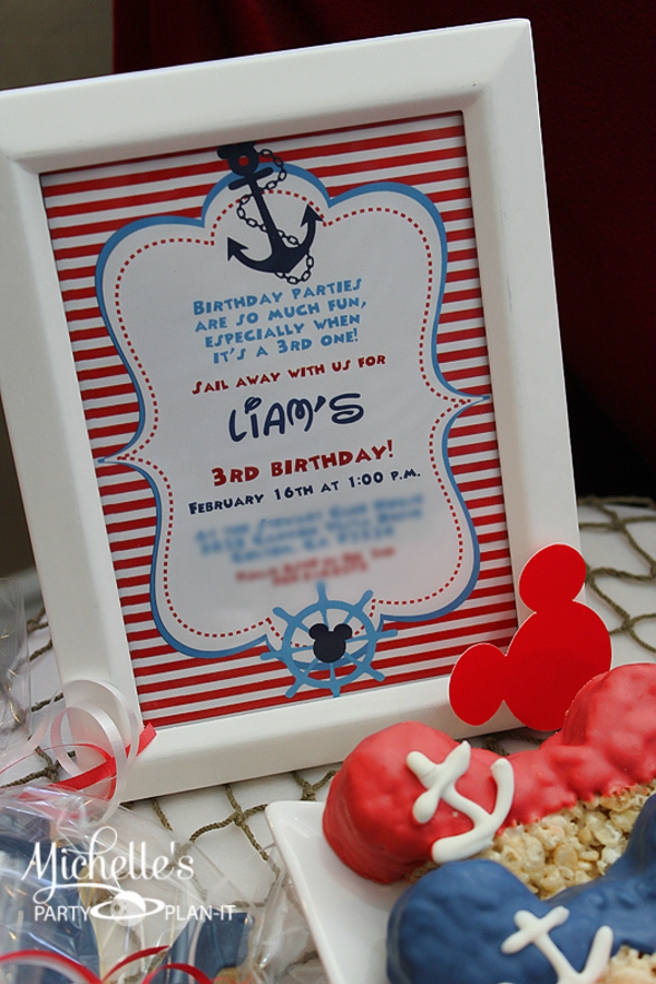 Kara S Party Ideas Nautical Boat Mickey Mouse Boy Disney