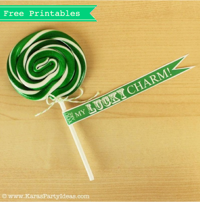 St Patrick's Day Free gift tags party printables via Kara's Party Ideas karaspartyideas.com #st #patrick's #day #free #printable #tags #gift #ideas