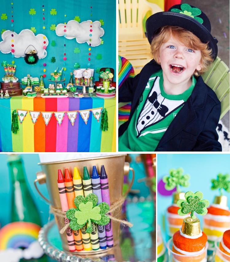 Kara S Party Ideas Rainbow Girl Boy Pot Of Gold St
