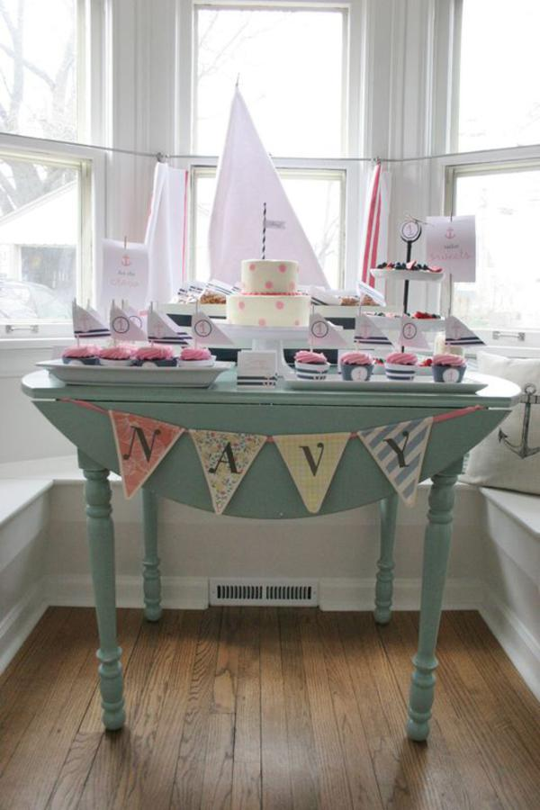 Sailor Girl Nautical Birthday Party via Kara's Party Ideas | KarasPartyIdeas.com #sailor #nautical #girl #navy #party #ideas (44)