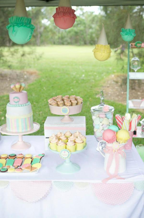 Ice Cream Shoppe Party via Kara's Party Ideas | KarasPartyIdeas.com #ice #cream #shoppe #party #ideas #summer #cake (21)
