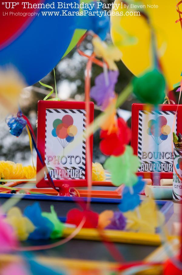 Kara S Party Ideas Disney S Quot Up Quot Rainbow Balloon Boy Girl
