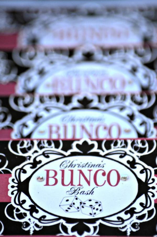 Bunco Birthday Cake