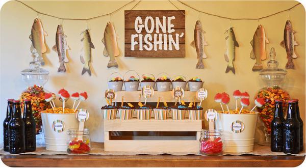 Karas Party Ideas Gone Fishin Fisherman Boy Birthday
