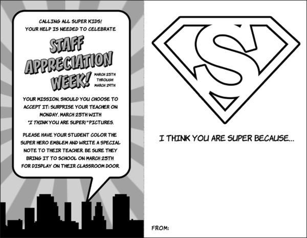 Top Kara's Party Ideas Superhero Themed Staff Teacher Appreciation  KL32