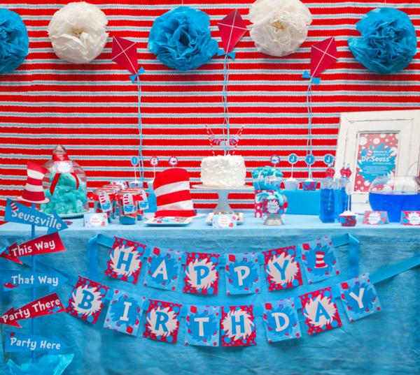 Dr. Seuss Party via Kara's Party Ideas | KarasPartyIdeas.com #Seuss #birthday #party #ideas (3)