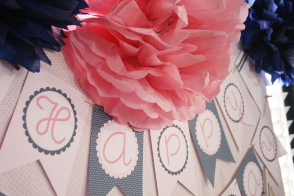 Sailor Girl Nautical Birthday Party via Kara's Party Ideas | KarasPartyIdeas.com #sailor #nautical #girl #navy #party #ideas (30)