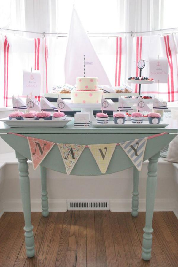 Sailor Girl Nautical Birthday Party via Kara's Party Ideas | KarasPartyIdeas.com #sailor #nautical #girl #navy #party #ideas (25)