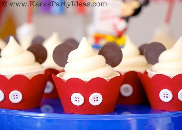 Mickey Mouse Birthday Party via Kara's Party Ideas | KarasPartyIdeas.com #mickey #mouse #cake #favor #decorations #supplies #birthday #party #ideas (13)