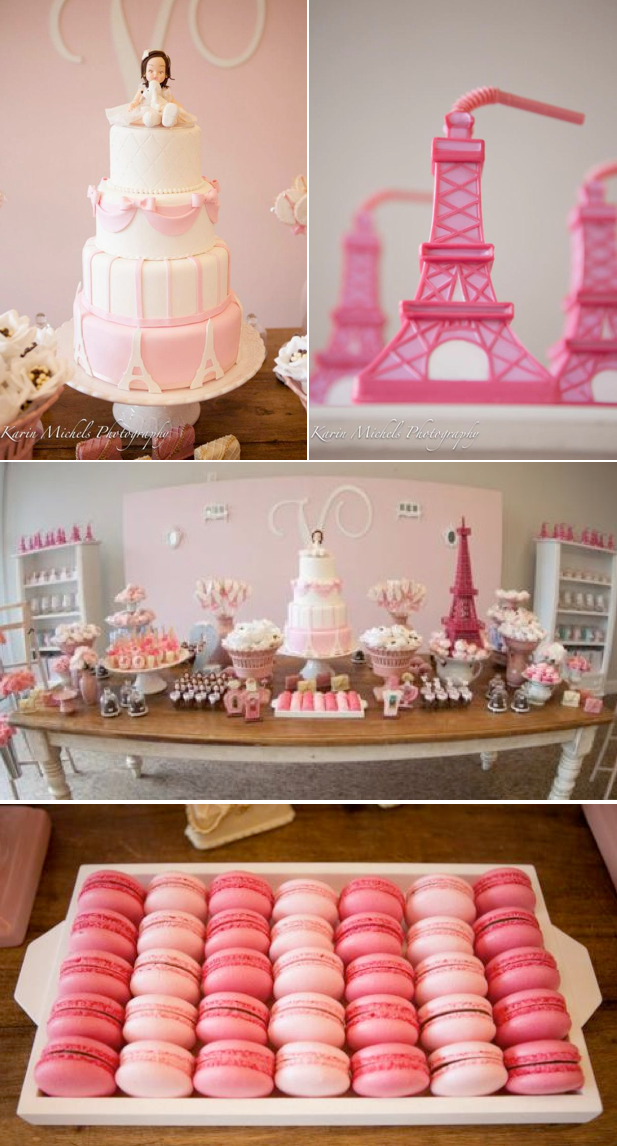 Pink Paris Themed Birthday Party Via Karas Ideas KarasPartyIdeas