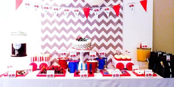 Karas Party Ideas Car Themed Boy 2nd Birthday Planning