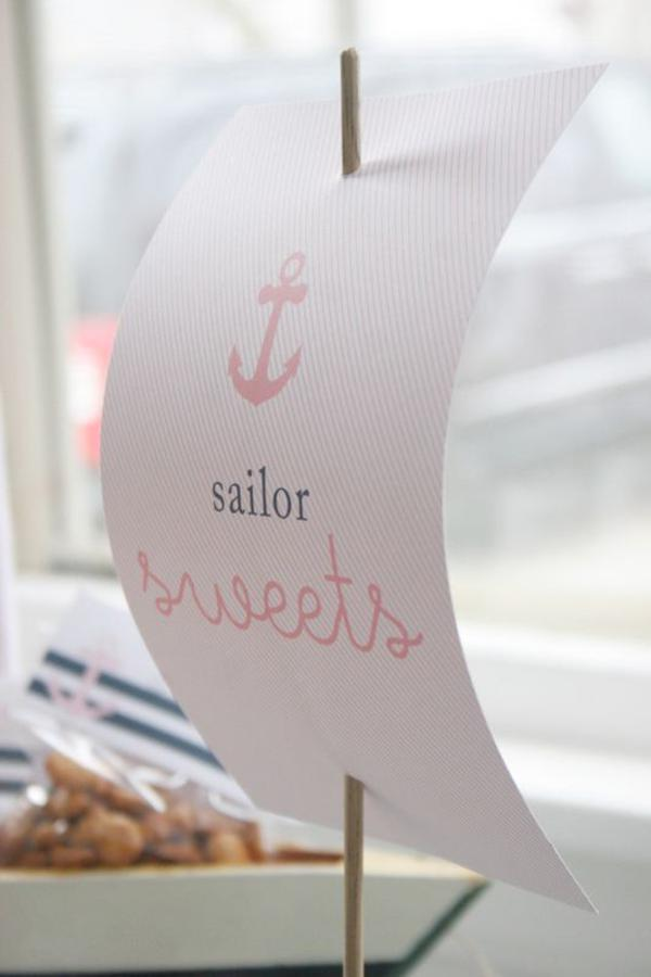 Sailor Girl Nautical Birthday Party via Kara's Party Ideas | KarasPartyIdeas.com #sailor #nautical #girl #navy #party #ideas (16)