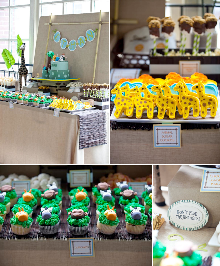 Safari Wild One Animal Jungle Themed Birthday Party Via Karas Ideas KarasPartyIdeas