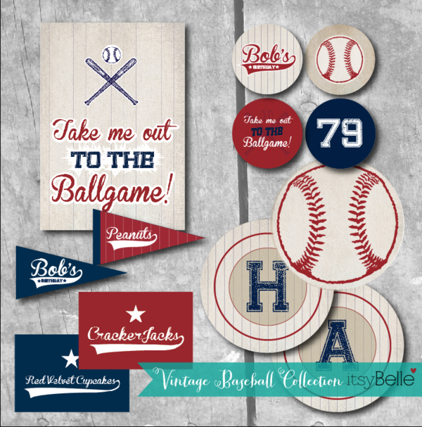 Kara S Party Ideas 79th Birthday Boy Vintage Baseball