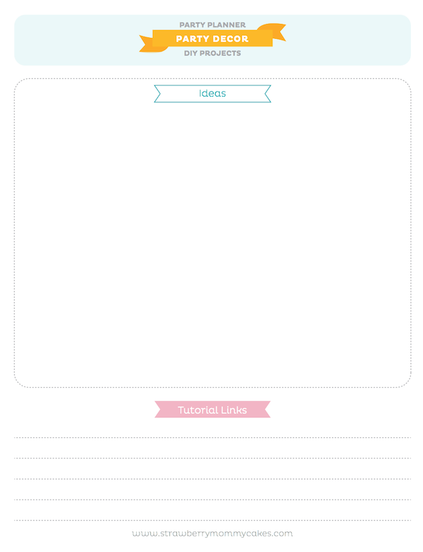 kara s party ideas free printable party planner download pages event