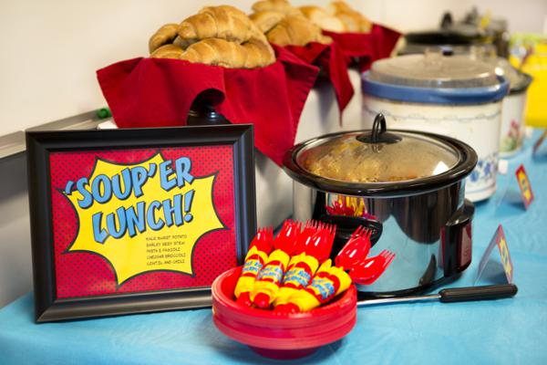 Karas Party Ideas Superhero Themed Staff Teacher Appreciation Food