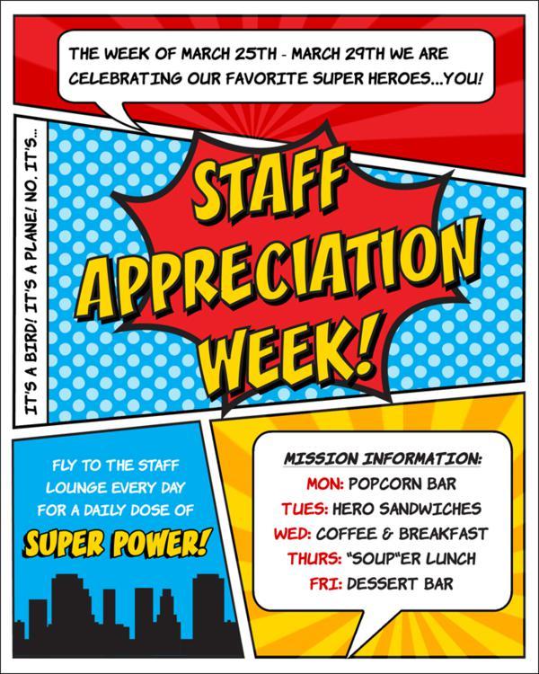 graphic relating to Popcorn Teacher Appreciation Printable known as Karas Social gathering Strategies Superhero Themed Workforce Trainer