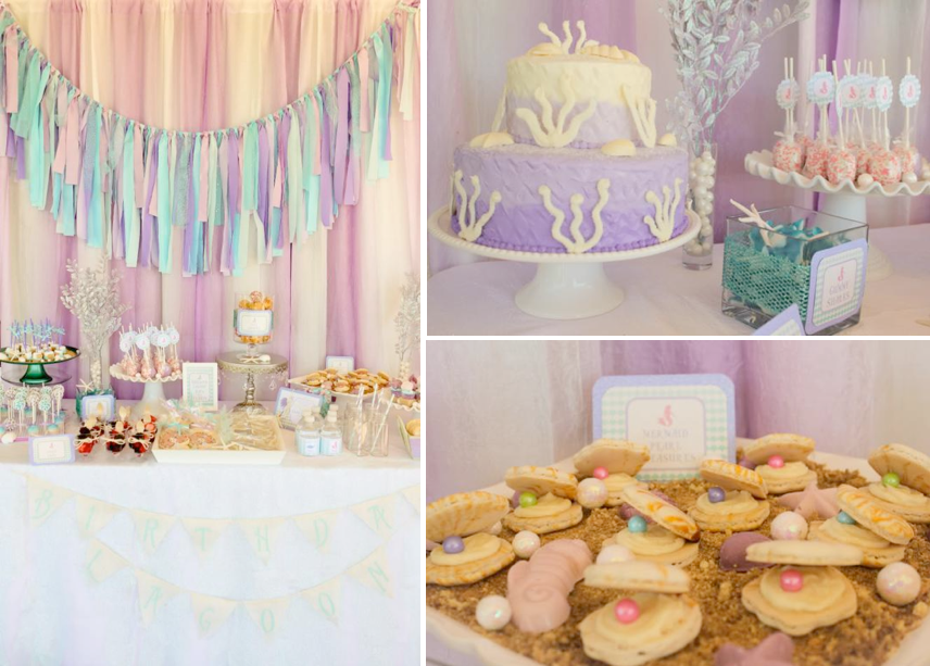 Whimsical Mermaid Birthday Party via Kara's Party Ideas | KarasPartyIdeas.com #mermaid #birthday #party #ideas #cake #supplies