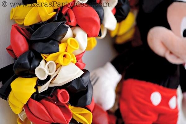 Mickey Mouse Birthday Party via Kara's Party Ideas | KarasPartyIdeas.com #mickey #mouse #cake #favor #decorations #supplies #birthday #party #ideas (28)
