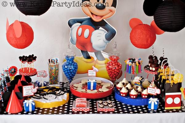 Mickey Mouse Birthday Party Via Karas Ideas