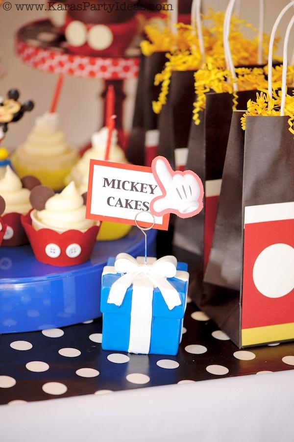 Mickey Mouse Birthday Party via Kara's Party Ideas | KarasPartyIdeas.com #mickey #mouse #cake #favor #decorations #supplies #birthday #party #ideas (19)