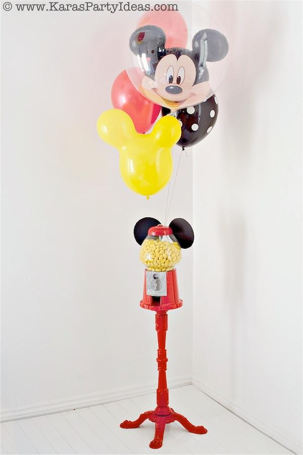 Mickey Mouse Birthday Party via Kara's Party Ideas | KarasPartyIdeas.com #mickey #mouse #cake #favor #decorations #supplies #birthday #party #ideas (18)