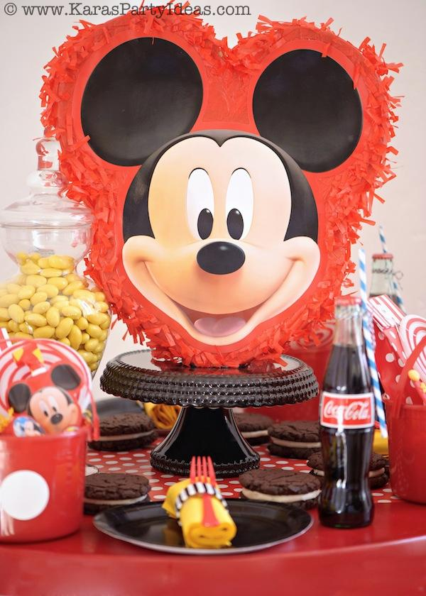 Mickey Mouse Birthday Party via Kara's Party Ideas | KarasPartyIdeas.com #mickey #mouse #cake #favor #decorations #supplies #birthday #party #ideas (9)