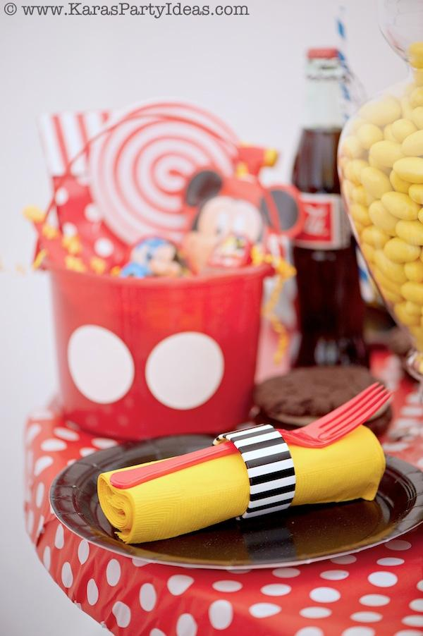 Mickey Mouse Birthday Party via Kara's Party Ideas | KarasPartyIdeas.com #mickey #mouse #cake #favor #decorations #supplies #birthday #party #ideas (1)