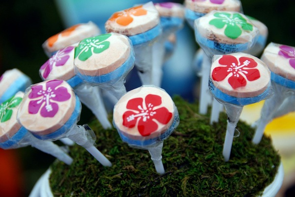 Luau + Surf themed birthday party FULL of ideas! Via Kara's Party Ideas | KarasPartyIdeas.com #summer #pool #luau #surfing #party #themed #idea #cake #supplies #decor #food #desserts (20)