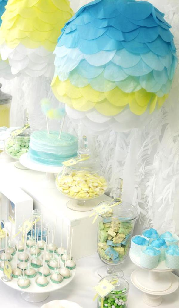 Hot Air Balloon Baby Shower via Kara's Party Ideas | KarasPartyIdeas.com #hot #air #balloon #up #away #baby #shower #party #ideas (16)