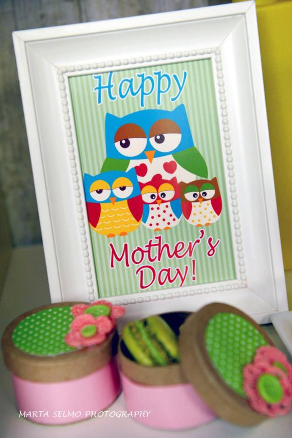 Mama Owl Mother's Day Party via Kara's Party Ideas | KarasPartyIdeas.com #mother's #day #owl #party #baby #shower #ideas (30)