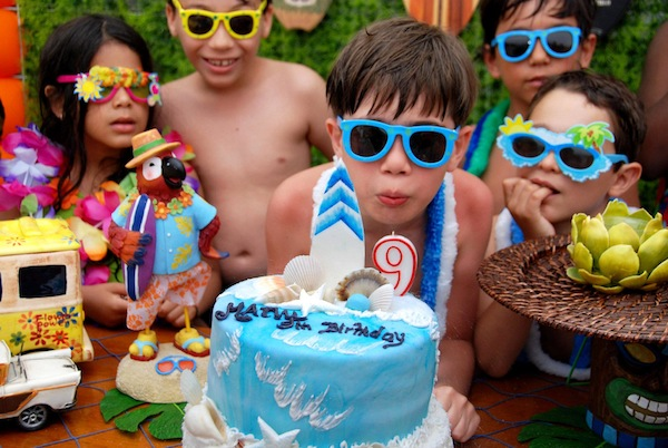Luau + Surf themed birthday party FULL of ideas! Via Kara's Party Ideas | KarasPartyIdeas.com #summer #pool #luau #surfing #party #themed #idea #cake #supplies #decor #food #desserts (10)