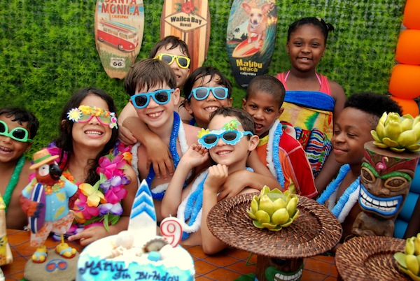 Luau + Surf themed birthday party FULL of ideas! Via Kara's Party Ideas | KarasPartyIdeas.com #summer #pool #luau #surfing #party #themed #idea #cake #supplies #decor #food #desserts (7)