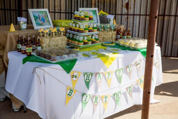 Kara S Party Ideas John Deere Tractor Themed Birthday