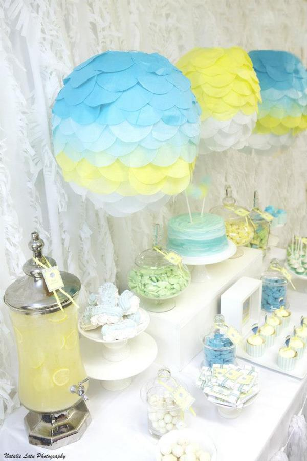 Hot Air Balloon Baby Shower via Kara's Party Ideas | KarasPartyIdeas.com #hot #air #balloon #up #away #baby #shower #party #ideas (4)