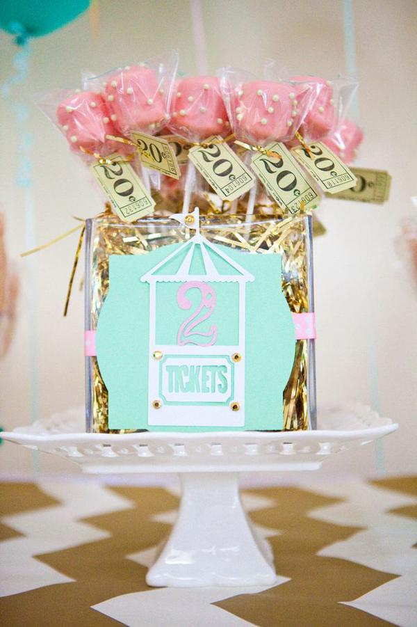 Kara S Party Ideas Carousel Cupcake Themed Birthday Party