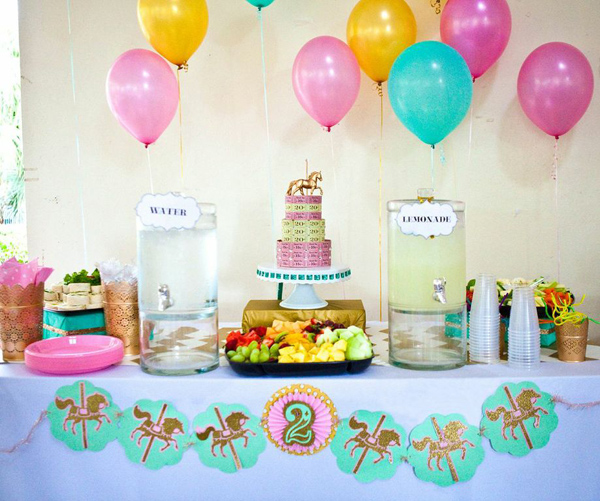 Kara's Party Ideas Carousel Cupcake Themed Birthday Party