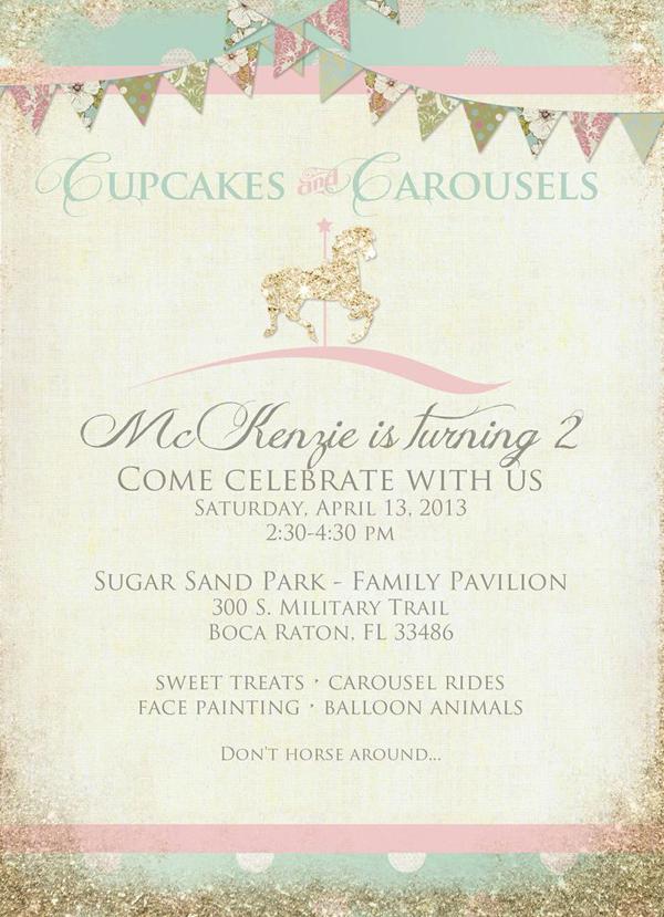 Kara's Party Ideas Carousel Cupcake Themed Birthday Party ...