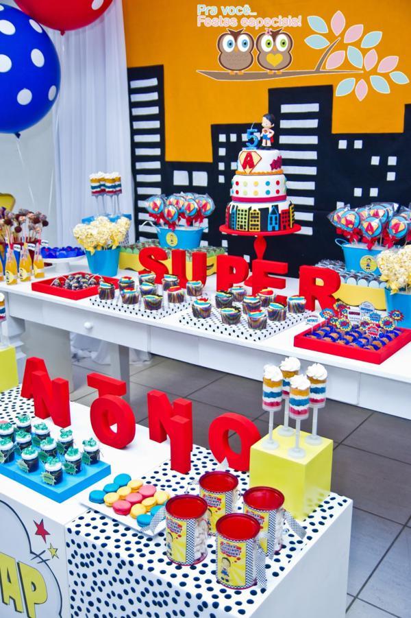 Kara S Party Ideas Superhero Themed 5th Birthday Party