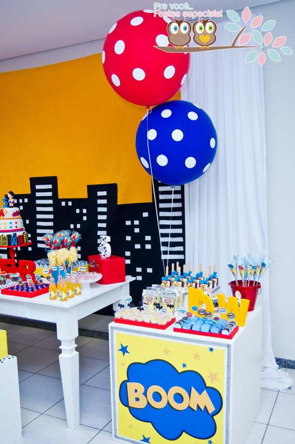 Superhero Birthday Party via Kara's Party Ideas | KarasPartyIdeas.com #superhero #super #hero #spiderman #superman #party #ideas (9)
