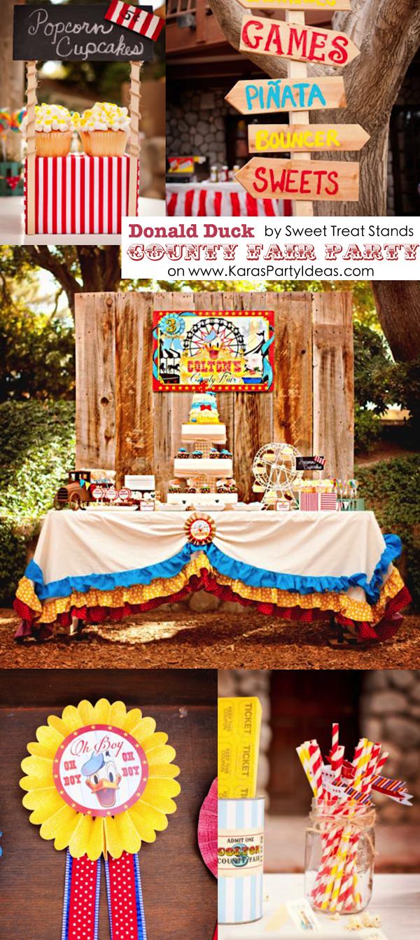Kara S Party Ideas Donald Duck County Fair Themed Birthday